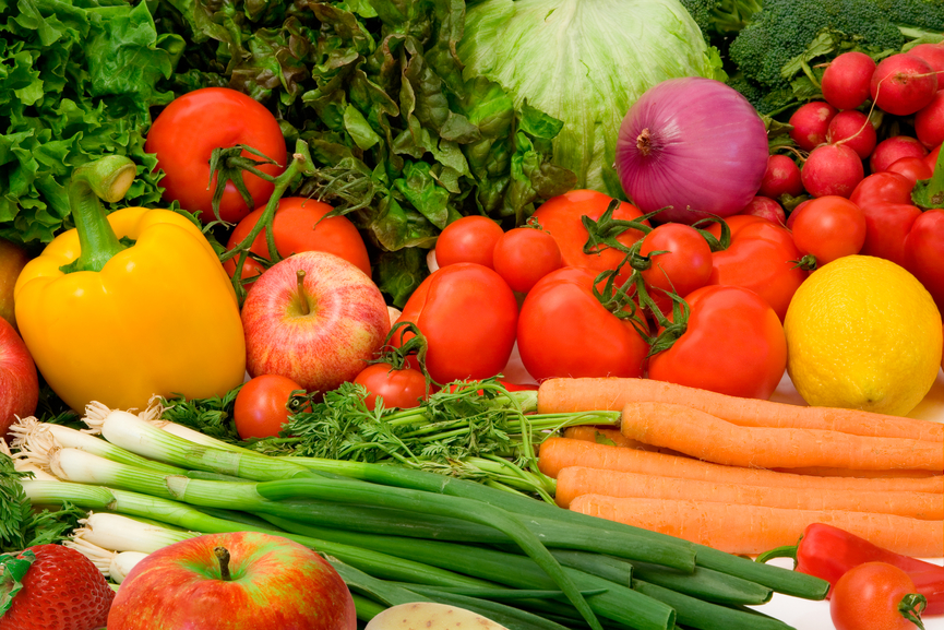 Delicious Vegetables and Fruits Arrangement