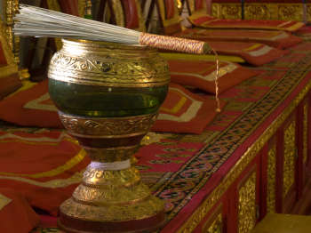 monk's alms-bowl holy water