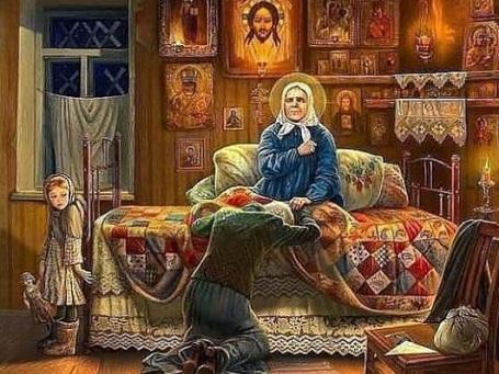 Svyataya-Matrona-prinimaet-posetitelnitsu