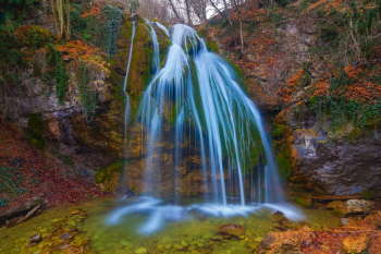 jur-jur waterfall crimea ukraine