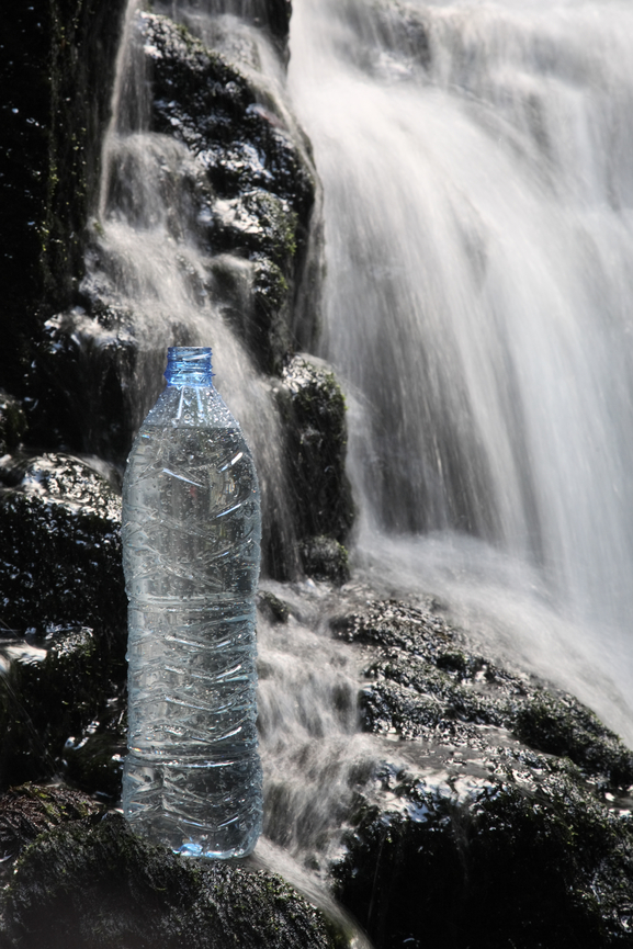 Mineral water in waterfalls