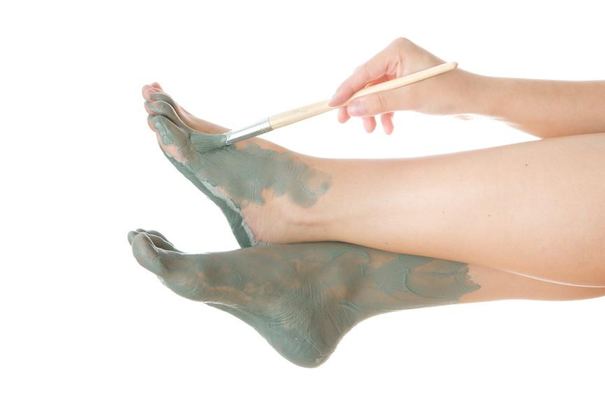 Foot Care. Mud treatment.