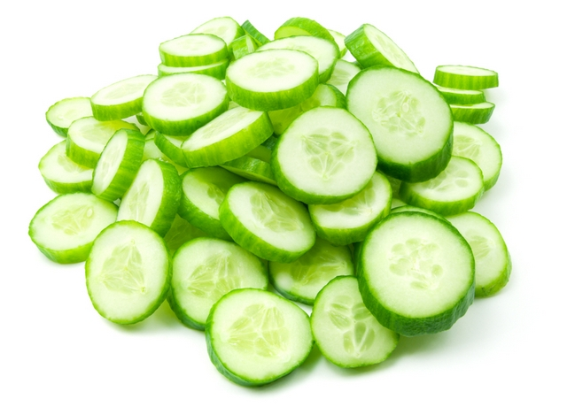 slices of fresh cucumber