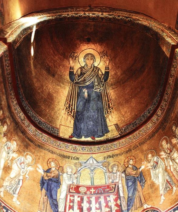 Шестиметровое изображение молящейся Божьей Матери, Оранты