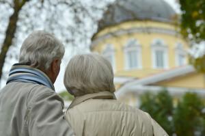attractive elderly couple