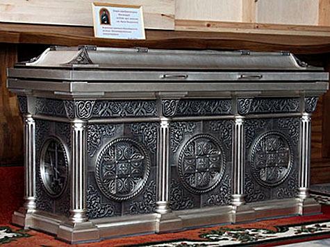 Серебряная рака для мощей святой княгини Анны Кашинской