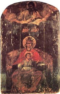 Икона Богоматери Державная. Конец XVIII - начало ХХ вв