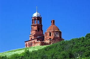 Покровский храм в городе Бобров Фото с сайта wikipedia.org