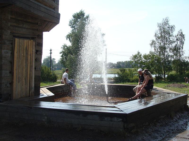Фонтан с минеральной водой, Сольвычегодск Фото с сайта tonkosti.ru