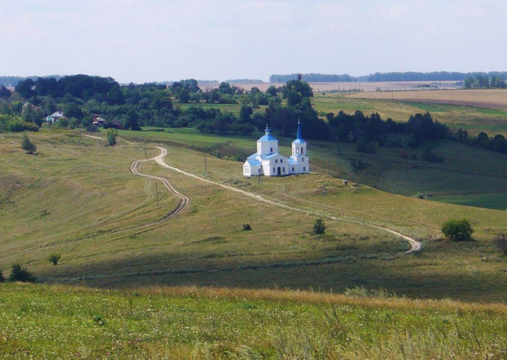 Вид на село Каменка Фото с сайта geocaching.su