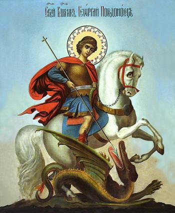 Георгий Победоносец. Икона Фото с сайта hramnadevichiem.ru