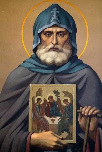Преподобный Александр Свирский. Икона Фото с сайта hram-troicy.prihod.ru